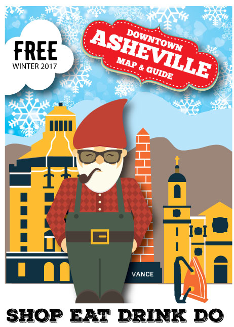 Downtown Asheville Map & Guide, Winter 2018, OutNow!
