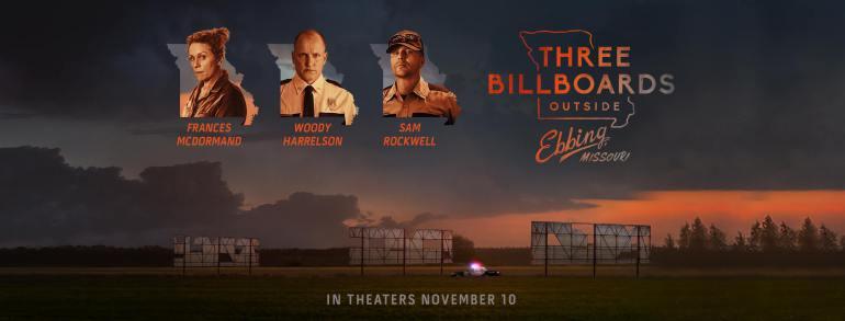 Three Billboards Outside Ebbing, Missouri, Shot in Sylva, North Carolina Nominated for 5 GoldenGlobes